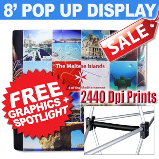 Exhibition Stand Trade Show Pop Up Booth Display Banner Stand Portable