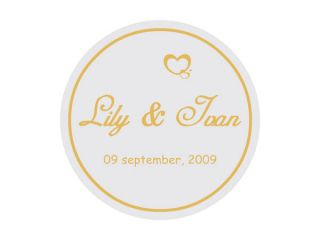 30 Personalised Wedding Envelope Seals Stickers Labels