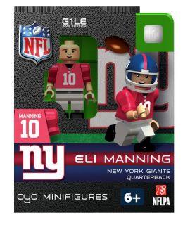 Eli Manning OYO Mini Fig Figure Lego Compatible New York Giants NIP