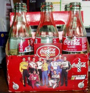 Coke Coca Cola Six Pack Bottles NASCAR