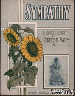 1905 African American Blackface Sheet Music Sympathy