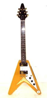 Epiphone 1958 Korina Flying V Electric Guitar   Natural Finish