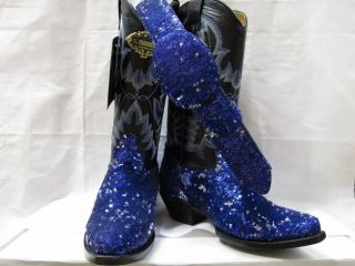 Hot Ladies Womens Sequins Fabolous Shiny Bling Western Cowboy Boots