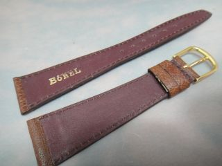 Ernest Borel Brown Mens Watch Strap 20mm