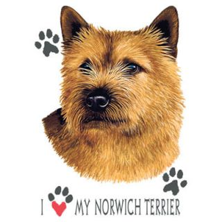 Terrier Dog Heat Press Transfer T Shirt Fabric Iron on Print