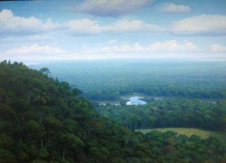 Original Latin American Landscape Cuban Art Ernesto Estevez