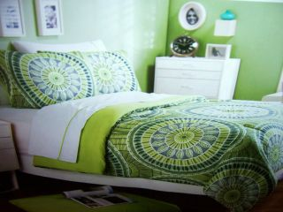 Green Lime 6 PC Twin XL Sz Extra Long Comforter Set Bedding New