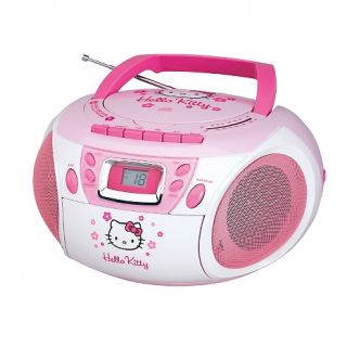 110 4928 hello kitty hello kitty stereo cd boombox with cassette