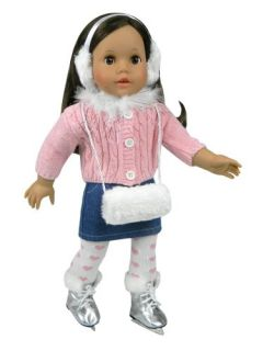 American Girl Doll Size 5 Pc. Set of 18 Inch Doll Clothes (Ice Skates