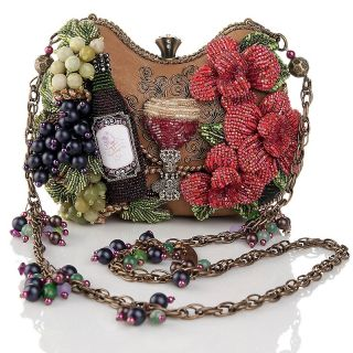 109 773 mary frances mary frances bead embellished wine evening bag