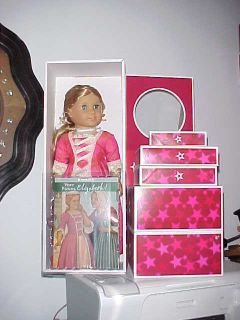 AMERICAN GIRL DOLL ELIZABETH, W/ EXTRA OUTFITS ,NEW IN BOXES