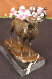 Bronze Elk Sculpture Pacific Creek Dandy Rmef Signed Barye Statue Art
