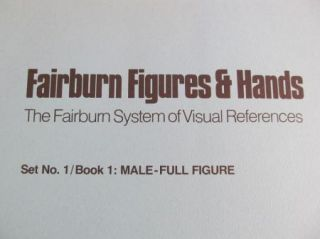 Fairburn Figures Hands Male Female Full Figure Visual Poses Large Book