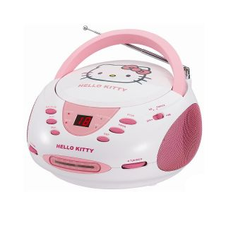 110 4892 hello kitty hello kitty stereo cd boombox with am fm radio