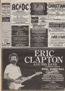 Eric Clapton Royal Albert Hall Trade Advert poster from UK British