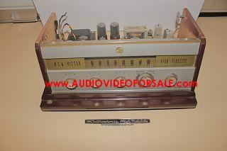 Vintage Old RCA Victor Cabinet Wood Machine Age Mid Century Radio