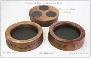 Espresso Machine Accessory Tamper Wooden Holder Cushion Mat Clubwood