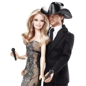 Tim McGraw Faith Hill Barbie Ken Doll Collector Pink Label Collection