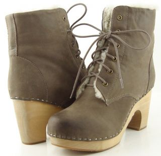 Jeffrey Campbell Erikson Steel Fur Womens Designer Shoes Clog Ankle