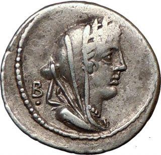 Roman Republic C. Fabius C.f. Hadrianus CYBELE HORSE 102BC Ancient