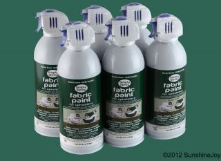 Upholstery Fabric Spray Paint 6 Pack Hunter Green Auto