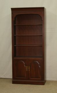 ETHAN ALLEN GEORGIAN COURT CHERRY BOOKSHELF WALL UNIT BOOKCASE