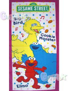 New Sesame Street Cookie Monster Elmo Big Bird Bath Towel A