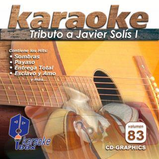 Karaoke BOXKBO83 tributo A Javier Solis Spanish CDG