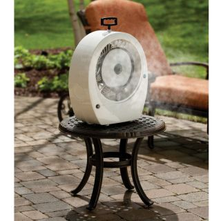 Hoseless Tabletop Misting Fan Outdoor Patio LOWERS Temp 20 F Covers
