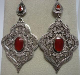 Central Asian Turkoman Oriental Ethnic Tribal Earrings