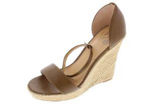 Famous Catalog Brown Wedge Sandals Espadrilles Shoes 7 BHFO