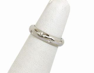 Tiffany Co Etoile Platinum Diamonds Band Ring Size 5 1 2 Retail $2 450