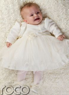 Baby Girls Cream Ivory Dress Bolero Jacket Wedding Babys Bridesmaid