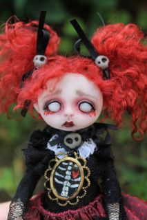 OOAK Gothic Fairy Tale Monster Ghost Bloody Mary Jane Posable A