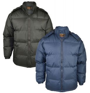 Arcic Mens Padded Puffer Bubble Jacke Hooded Bomber Quiled Coa