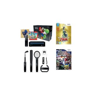 Nintendo Nintendo Wii System Bundle with 3 Games and 6 piece Accessory