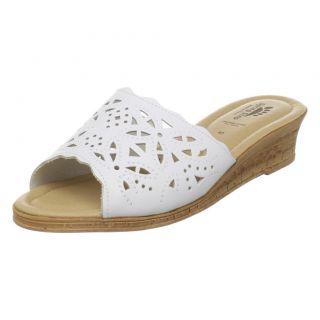 Spring Step Estella Womens Comfort Leather Sandal White