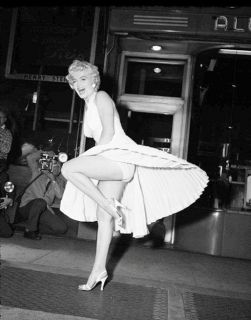 Marilyn Monroe Photograph NY Subway Scene from The Seven Year Itch