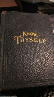 Know Thyself 1911 Illustrated Book Bishop Fallows Dr Truitt