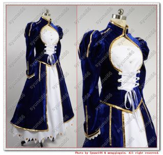 Fate Stay Night Saber Cosplay Costume Custom Any Size Ver2