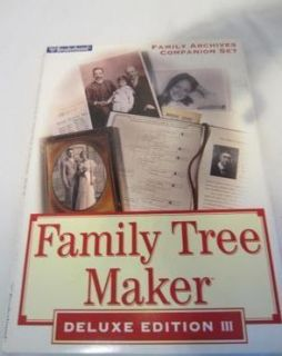 Family Tree Maker Archives Companion Set Broderbund
