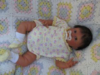 Reborn Realistic Lifelike Ethnic Native American Baby Girl OOAK Doll