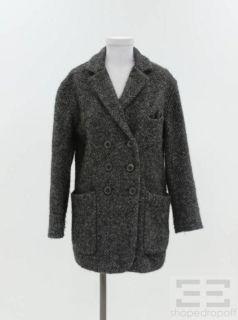 Etoile Isabel Marant Dark Grey Wool Double Breasted Coat Size 0