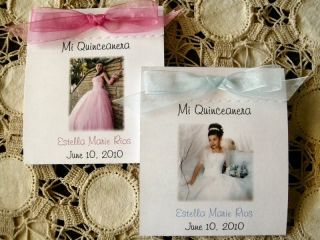 Quinceanera Photo Seed Favors 25 Personalized Birthday