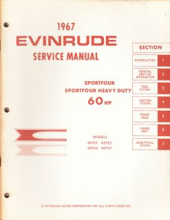 1967 Evinrude Service Manual 60 HP Models