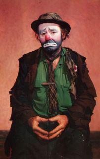 Emmett Kelly as Weary Willie Clown Vintage Postcard