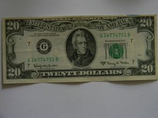 20 00 Federal Reserve G Series Two Way Full House Note