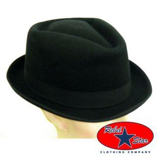 Fedora Diamond Top Retro Cool Ska Punk Sinatra Sheen Trilby Gangster