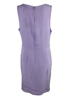 Tibi Womens Silk V Neck Detail Empire Waist Shift Dress $335 New