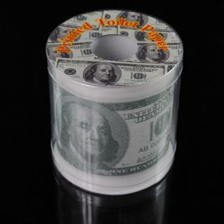 Euro Dollar Bill Money Printed Toilet Paper Novelty Tissue Roll Gag
